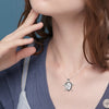 925 Sterling Silver Turtle And Baby Turtle Necklace - onlyone
