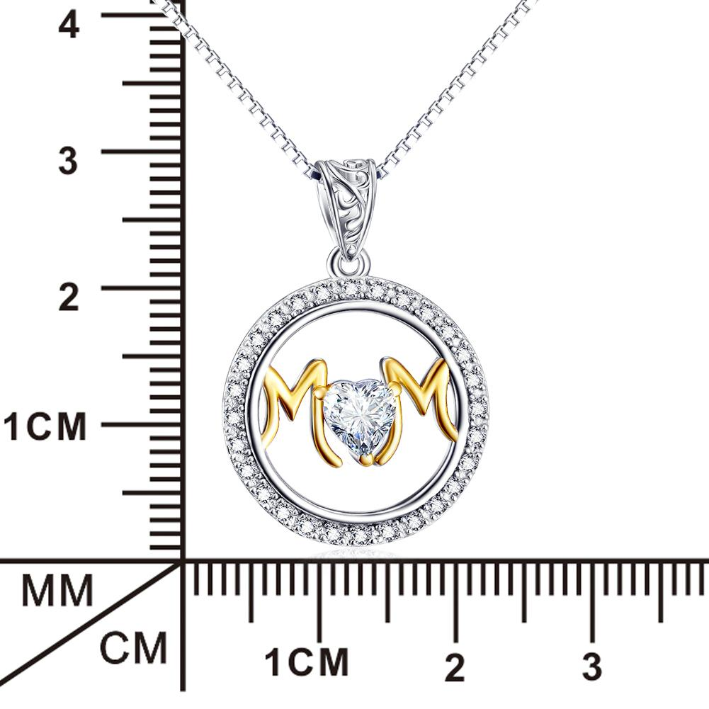 925 Sterling Silver Women Heart Pendant Necklace Gift For Mom - onlyone