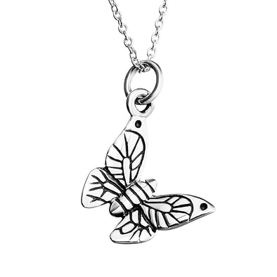 925 Sterling Silver Butterfly Pendant Necklace - onlyone