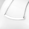 925 Sterling Silver Horizontal Bar Arch Pendant Sports Necklace - onlyone