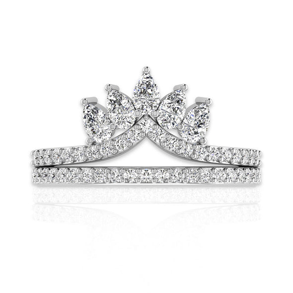 OnlyOne Crown Series Design Ring Zirconia Ring:Ⅱ - onlyone