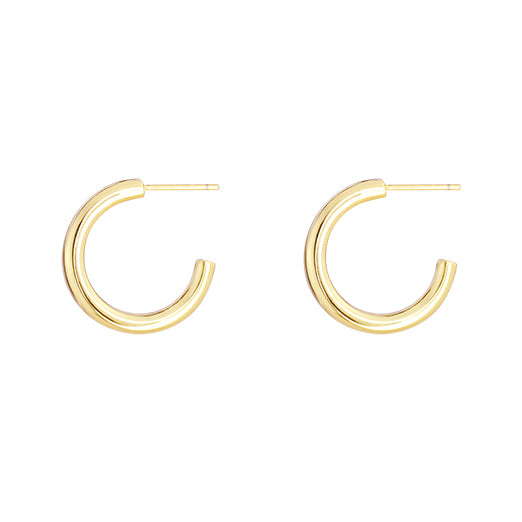 Huggie Hoop Earrings Gold Plated Jewelry - onlyone