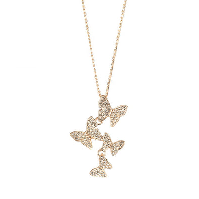 925 Sterling Silver Diamond Butterfly Necklace for Jewelry Women - onlyone