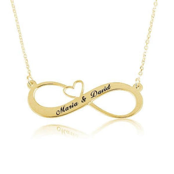 Engraved Infinity Heart Name Necklace-Infinity Necklaces-YAFEINI-Gold Plated-yafeini-personalized-custom-jewelry
