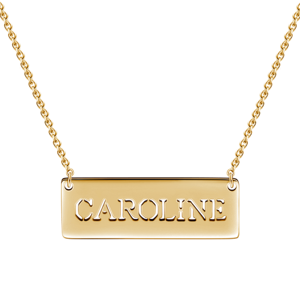 "14K Gold Personalized Hollow Name Necklace Adjustable 16"" - 20"" - onlyone"