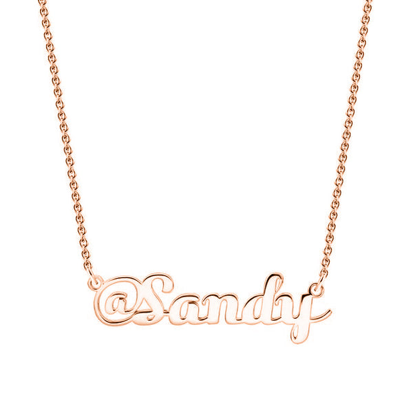 925 Sterling Silver Custom Sandy Name Necklace Nameplate Necklace - onlyone