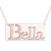 925 Sterling Silver Engraved Bella Bar Name Necklace Nameplate Necklace - onlyone