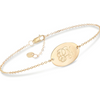 "14K Gold Personalized Oval Name Bracelet Length Adjustable 6"" - 7"" - onlyone"