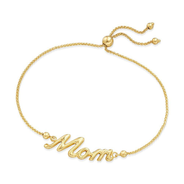 925 Sterling Silver Personalized Name Bracelet Gift For Mom - onlyone