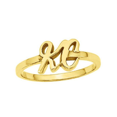 10K/14K Gold Personalized Initial Ring - onlyone