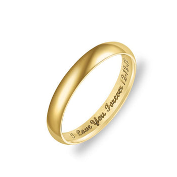 Personalized Low Dome Engraved Ring-Personalized Rings-YAFEINI-Gold Plated-5-yafeini-personalized-custom-jewelry