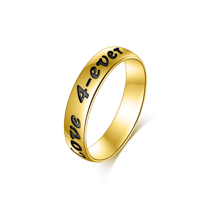 925 Sterling Silver Personalized Engraved Ring - onlyone