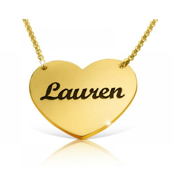 Engraved Heart Name Necklace-Engraved Necklaces-YAFEINI-yafeini-personalized-custom-jewelry