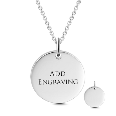 925 Sterling Silver Engraved Hang Tag Coin Necklace Inspirational Gift, Back To School Gift Necklace - onlyone
