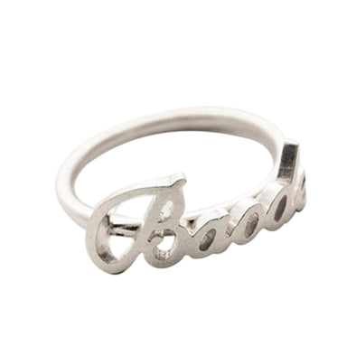 925 Sterling Silver Personalized Name Ring Nameplate Ring - onlyone