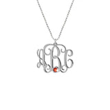 Initial Monogram Necklace-Monogram Necklaces-YAFEINI-yafeini-personalized-custom-jewelry