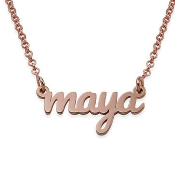 "925 Sterling Silver ""Maya"" Style Custom Name Necklace Nameplate Necklace - onlyone"