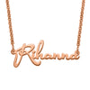 "925 Sterling Silver ""Rihanna"" Style Custom Name Necklace Nameplate Necklace - onlyone"
