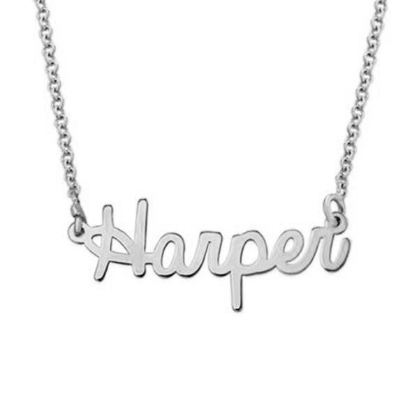 925 Sterling Silver Tiny Cursive Name Necklace Nameplate Necklace - onlyone