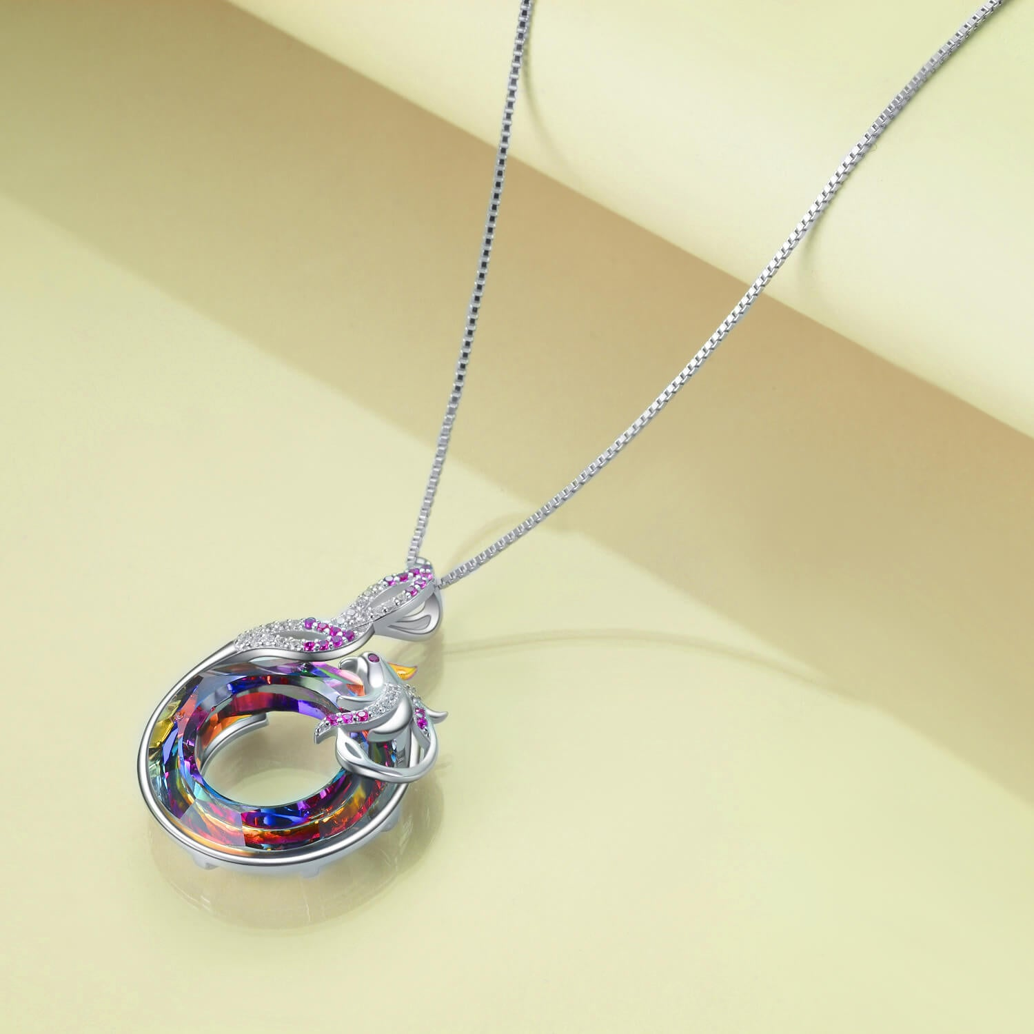 Nirvana of Phoenix with Swarovski Crystal Pendant Necklace Gift For Woman - onlyone