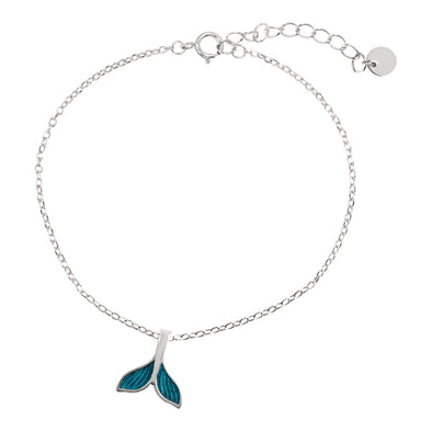 925 Sterling Silver Fishtail Anklet - onlyone