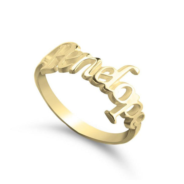 Personalized Script Name Ring-Personalized Rings-YAFEINI-Gold Plated-yafeini-personalized-custom-jewelry