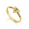 925 Sterling Silver Personalized Triangle Engraved Ring - onlyone