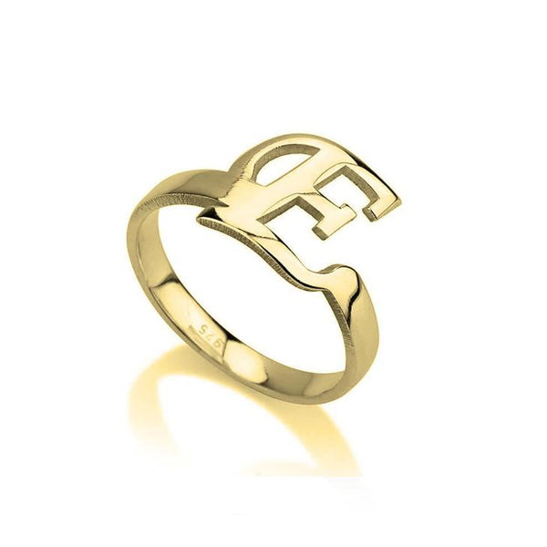 Personalized Initial Letter Ring-Personalized Rings-YAFEINI-Gold Plated-yafeini-personalized-custom-jewelry