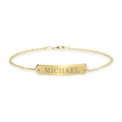 "925 Sterling Silver Personalized Classic Name Bar Bracelet Length 6""-7.5"" Nameplate Bracelet - onlyone"