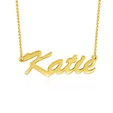 "925 Sterling Silver ""Katie"" Style Custom Name Necklace Nameplate Necklace - onlyone"