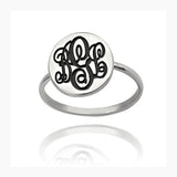 Personalized Initial Monogram Ring-Personalized Rings-YAFEINI-Silver-yafeini-personalized-custom-jewelry