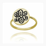 Personalized Initial Monogram Ring-Personalized Rings-YAFEINI-Gold Plated-yafeini-personalized-custom-jewelry