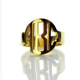 Personalized Block Initials Monogram Ring-Personalized Rings-YAFEINI-Gold Plated-yafeini-personalized-custom-jewelry