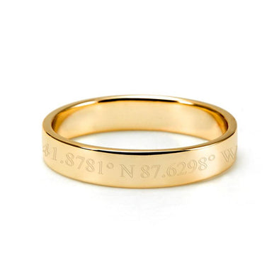 10K/14K Gold Personalized Coordinate Ring - onlyone