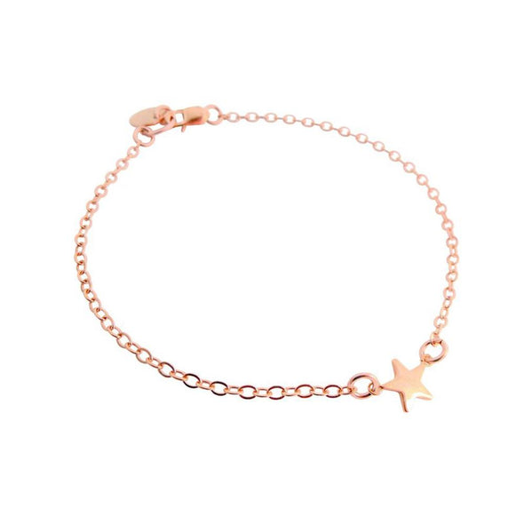 925 Sterling Silver Personalized Mini Star Initial Bracelet - onlyone