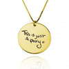925 Sterling Silver Engraved Coin Signature Name Necklace Nameplate Necklace, Back To School Gift Necklace - onlyone