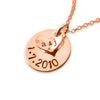 925 Sterling Silver Coin Engraved Name Necklace Nameplate Necklace - onlyone