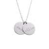 925 Sterling Silver Double Coin Engraved Name Necklace Nameplate Necklace - onlyone