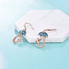 925 Sterling Silver Zirconia Giraffe Earrings - onlyone