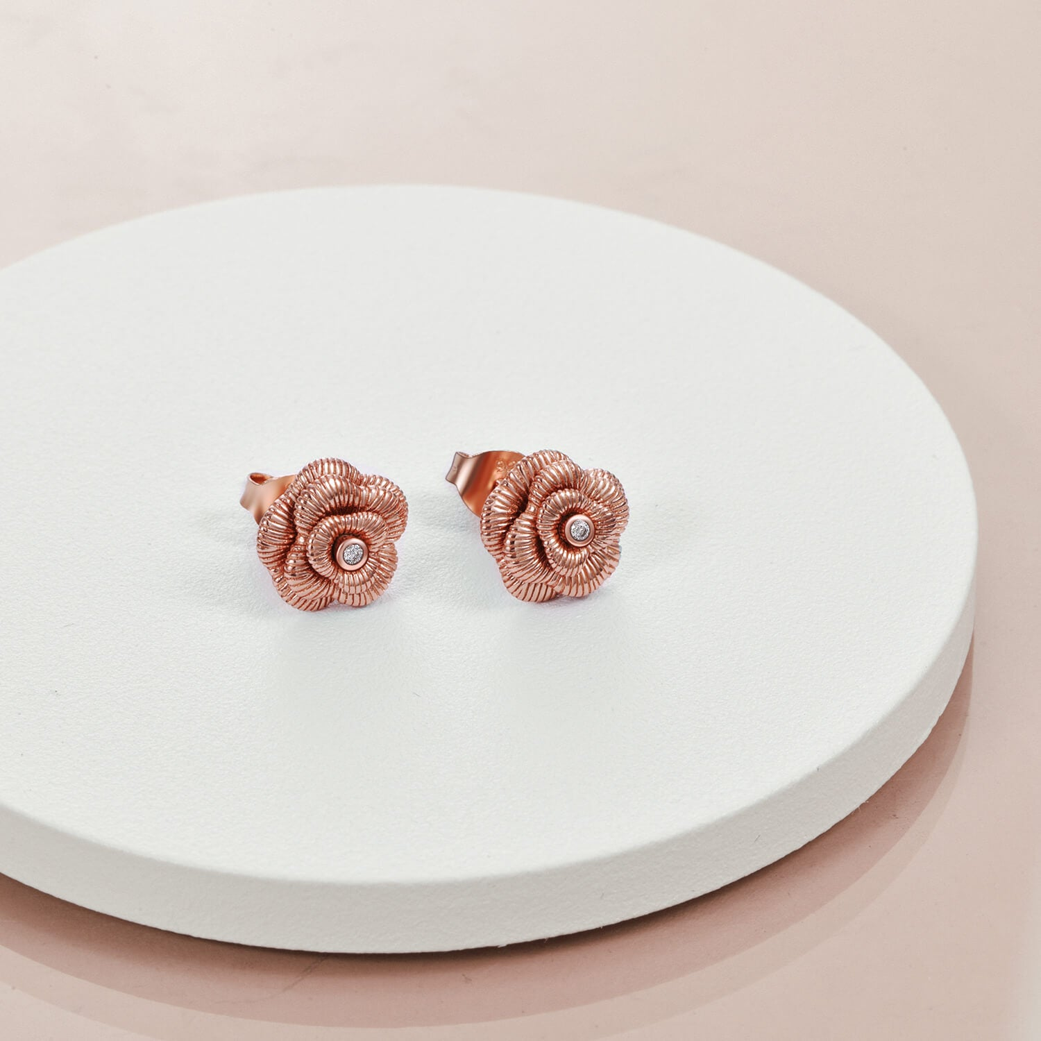 925 Sterling Silver Rose Flower Stud Earrings for Women - onlyone