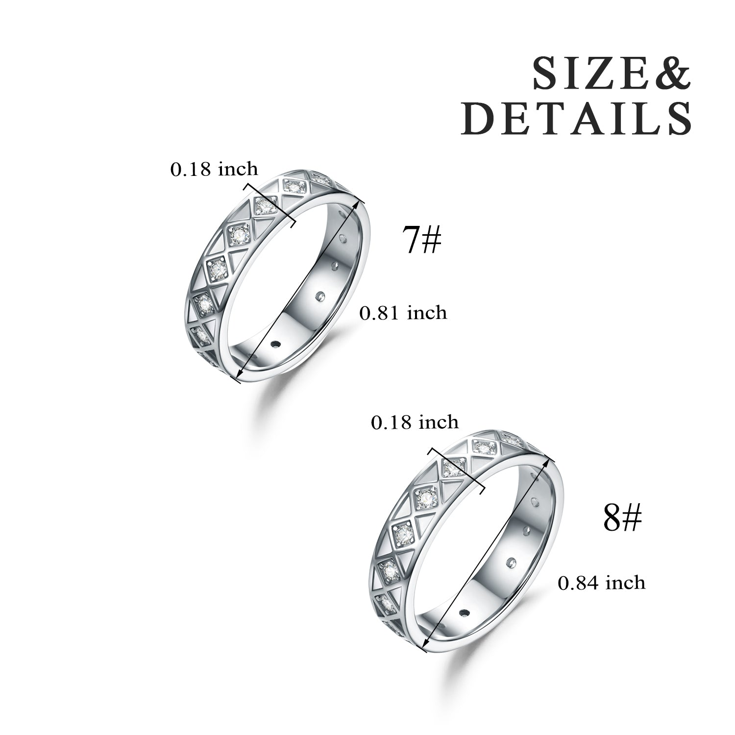 925 Sterling Silver Love Ring Zirconia Ring - onlyone