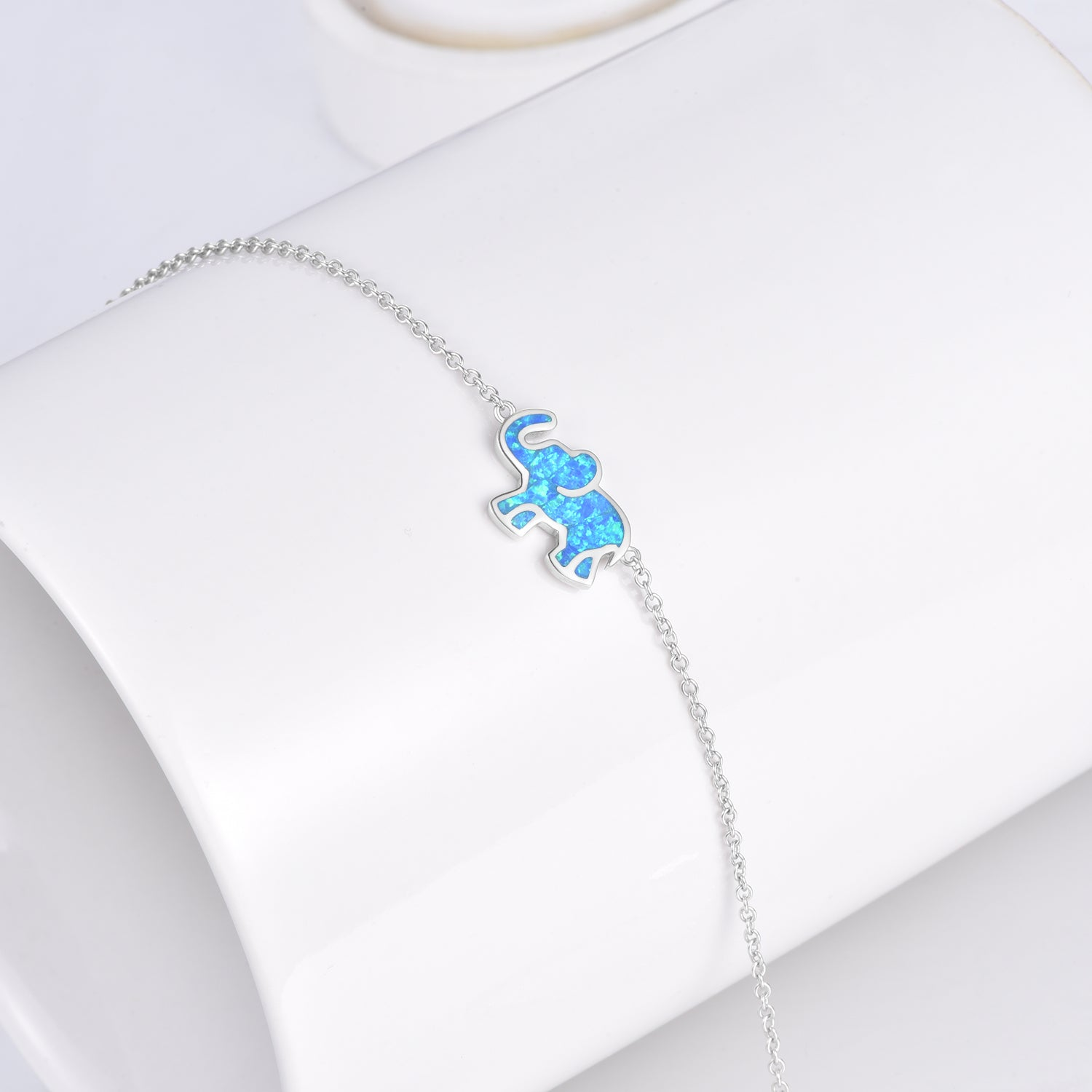 925 Sterling Silver Adjustable Cable Link Chain Good Luck Elephant Bracelets - onlyone