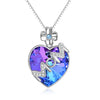 925 Sterling Silver Crystals Heart Pendant Necklace, Gift For Mom - onlyone