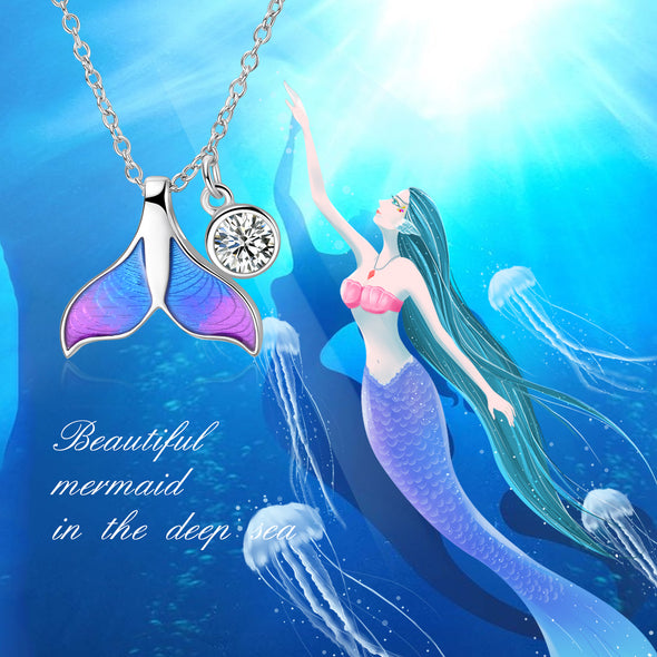 925 Sterling Silver Mermaid Fishtail Necklace - onlyone