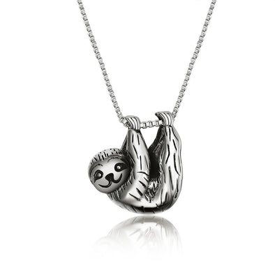 925 Sterling Silver Sloth Necklace - onlyone