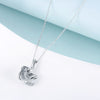 925 Sterling Silver Sloth and Heart Pendant Necklace - onlyone