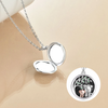 925 Sterling Silver Elephant Parent-child Photo Locket Necklaces