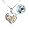 925 Sterling Silver Heart Butterfly Photo Locket Necklaces - onlyone