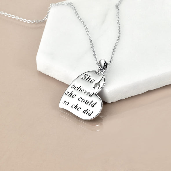 925 Sterling Silver Flipping Gymnast Team Pendant Necklace Ballerina Gymnastics for Women Gifts - onlyone
