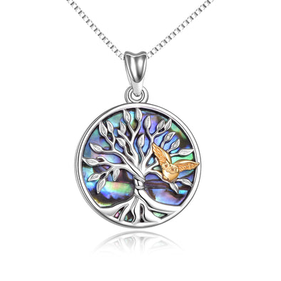 925 Sterling Silver Tree Of Life Owl Necklace - onlyone